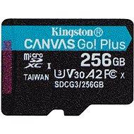 Kingston MicroSDXC 256GB Canvas Go! Plus + SD adaptér - Paměťová karta