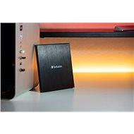 VERBATIM CD/DVD Slimline USB-C, černá - Externí vypalovačka