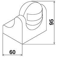 Elektrobock LX39 bílá - Pohybové čidlo