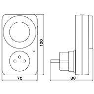 Elektrobock ZS10 - Spínací zásuvka