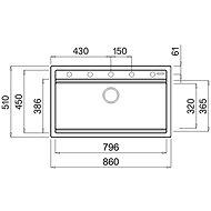 ELLECI BEST 360 K86  - Granitový dřez