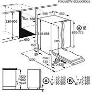 ELECTROLUX 800 SENSE ComfortLift EEC87300L - Vestavná myčka