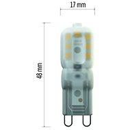 EMOS LED žárovka Classic JC 2,5W G9 neutrální bílá - LED žárovka