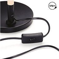 EMOS Stojací lampa EDWARD na žárovku E27, 150cm, černá - Lampa