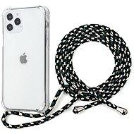 Epico Nake String Case iPhone 12 Pro Max bílá transparentní/černo-bílá - Kryt na mobil