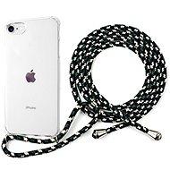 Epico Nake String Case iPhone 7/8/SE - bílá transparentní / černo-bílá - Kryt na mobil