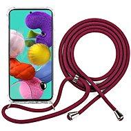 Epico Nake String Case Samsung Galaxy A51 - bílá transparentní / červená - Kryt na mobil