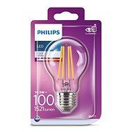 Philips LED Classic Filament 11-100W, E27, čirá, 4000K - LED žárovka