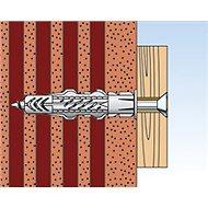 fischer UX 8 x 50 R univerzální uzlovací hmoždinka s límečkem + vrut - Sada spojovacího materiálu