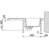 FRANKE OID 611-78 černý 780x500mm - Tectonitový dřez