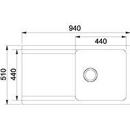 FRANKE OID 611 černý 940x510mm - Tectonitový dřez