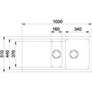 FRANKE OID 651 kávový 1000x510mm - Tectonitový dřez