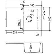 FRANKE MRG 611 780x500 onyx - Granitový dřez