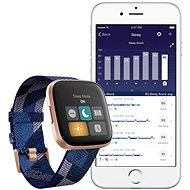 Fitbit Versa 2 Special Edition (NFC) - Navy & Pink Woven - Chytré hodinky