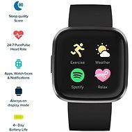 Fitbit Versa 2 (NFC) - Black/Carbon - Chytré hodinky