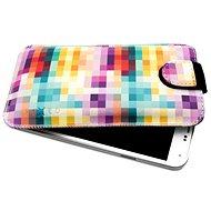 FIXED Soft Slim se zavíráním 5XL+ motiv Dice - Pouzdro na mobil