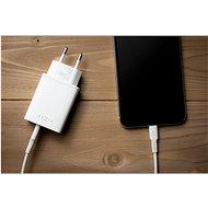 FIXED Travel s USB-C a USB výstupem podpora PD 30W bílá - Nabíječka do sítě