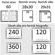 Goldbuch La Rose červené - Fotoalbum