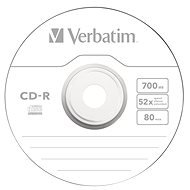 VERBATIM CD-R 700MB, 52x, spindle 50 ks - Média