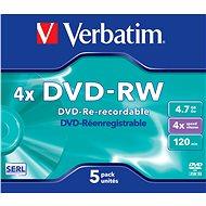VERBATIM DVD-RW SERL 4.7GB, 4x, jewel case 5 ks - Média