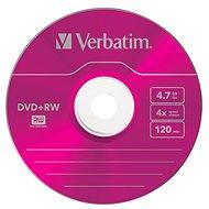 VERBATIM DVD+RW SERL 4.7GB, 4x, colour, slim case 5 ks - Média