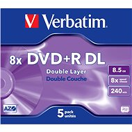 VERBATIM DVD+R DL AZO 8.5GB, 8x, jewel case 5 ks - Média