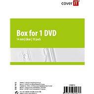 Cover IT Krabička na 1ks - čirá (transparent), 14mm,10ks/bal - Obal na CD/DVD