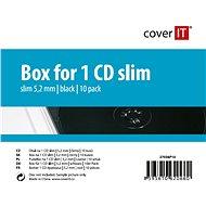 COVER IT Krabička slim na 1ks - černá, 5.2mm,10ks/bal - Obal na CD/DVD