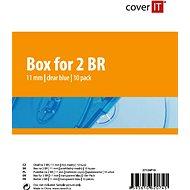 Cover IT Krabička na 2ks Blu-ray média modrá,10ks/bal - Obal na CD/DVD