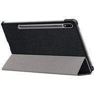Hishell Protective Flip Cover pro Samsung Galaxy Tab S7+ černé - Pouzdro na tablet