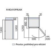 HITACHI R-BG410PRU6XL-GBK - Lednice