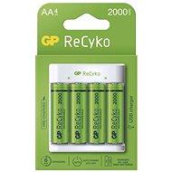 GP Eco E411 + 4× AA ReCyko 2000 - Nabíječka baterií