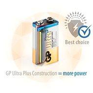 GP Ultra Plus Alkaline 9V 1ks v blistru - Jednorázová baterie