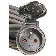 Emos Prodlužovací kabel gumový 10m 3x1.5mm, černý - Prodlužovací kabel