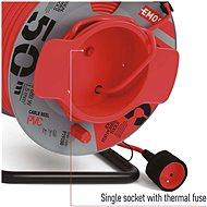 EMOS PVC prodlužovací kabel na bubnu – spojka, 50m, 1,5mm2 - Prodlužovací kabel