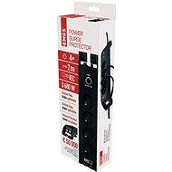 EMOS Přepěťová ochrana 1800J, 4 zásuvky, 2m, černá - Přepěťová ochrana