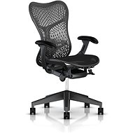 Herman Miller Mirra s opěrkou TriFlex, pro měkké podlahy - černá - Kancelářská židle