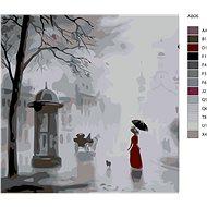 Malování podle čísel - Set listopadové počasí 40x40 cm vypnuté plátno na rám - Malování podle čísel