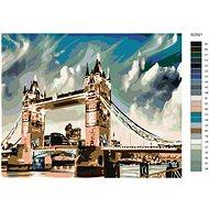 Malování podle čísel - Osvícený Tower Bridge 40x50 cm bez rámu a bez vypnutí plátna - Malování podle čísel