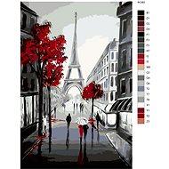 Malování podle čísel - Na procházce pod Eiffelovkou 80x120 cm vypnuté plátno na rám - Malování podle čísel