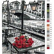 Malování podle čísel - Růže z Benátek 80x100 cm vypnuté plátno na rám - Malování podle čísel