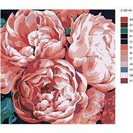 Malování podle čísel - Pivoňky ve světle 80x80 cm vypnuté plátno na rám - Malování podle čísel