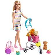 Barbie panenka na vycházce s pejskem - Panenka