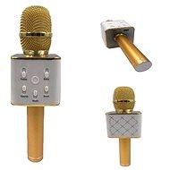 Teddies Mikrofon karaoke kov zlatý - Mikrofon