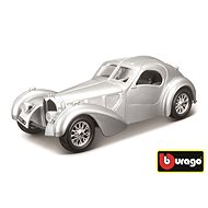 Bburago 1:24 Bugatti Atlantic stříbrná - Kovový model