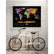 World Travel Black stírací mapa světa + dárek 60x80cm EN - Mapa