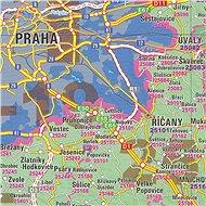 Česká republika PSČ 140x200cm lamino, lišty nástěnná mapa - Mapa