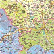 Česká republika PSČ 95x135cm lamino, lišty nástěnná mapa - Mapa