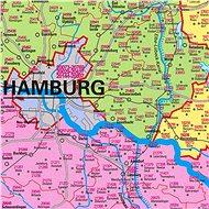 Německo, Rakousko, Švýcarsko PSČ 135x97cm papír nástěnná mapa bez lišt - Mapa