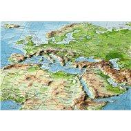 Svět reliéfní 3D plastická nástěnná mapa 77x57cm - Mapa